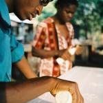 Textile artist, Mfuwe, Zambia, 2005